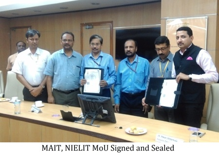 Figure 2 MAIT NIELIT MoU Signed and Sealed