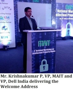 Mr. Krishnakumar P, VP, MAIT and VP
