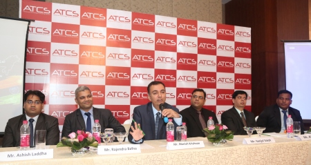 Mr Manish Krishnan, Global CEO, ATCS addressing media